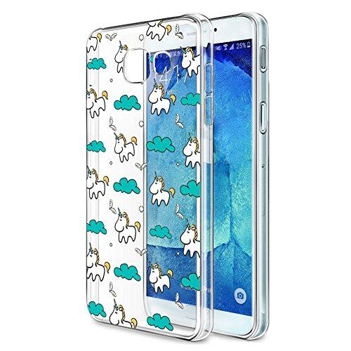 Eouine Funda Samsung Galaxy A5 2017, Cárcasa Silicona 3D Transparente con Dibujos Diseño Suave Gel TPU [Antigolpes] de Protector Bumper Case Cover Fundas para Movil Samsung Galaxy A5 2017 (Unicornio)