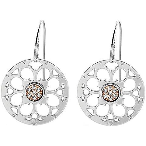 Nomina donne-orecchini PARADISO rosa in acciaio inox Zirconia Bianco - 025539/001 - Paradise Gallerie