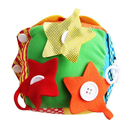 Kbsin212 Baby Blöcke Spielzeug Weiche Tuch Spielzeug Simulation Plüsch Blöcke Reißverschluss Schnürsenkel Erkenntnis Spielzeug Square Ball