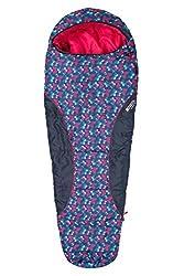 Mountain Warehouse Apex Mini Gemusterter Schlafsack leicht Frühling-Sommerschlafsack Erwachsener Jugend Kinder KleinkindFestival Camping Urlaub Rosa