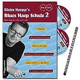 Dieter Kropp S Blues Harp Scuola Band 2–Die fortsetzung der erfolgreichen Blues Harp tecniche della Scuola del gioco, artikulation e suono formung–con 2CD e musica della matita