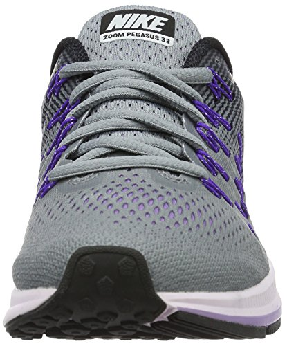 Nike Wmns Air Zoom Pegasus 33 Damen Turnschuhe Grigio (Stealth/White/Black/Fierce Purple)
