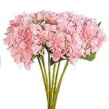 Justoyou Individuelle Hortensie Stiele Künstliche Blumen für Home Office Dekoration,4 Stück, Rosa