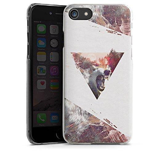 Apple iPhone X Silikon Hülle Case Schutzhülle Hipster Wolf Dreieck Hard Case transparent
