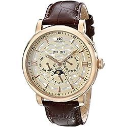 Adee Kaye Men's AK2242-MRG/CH Successo Analog Display Automatic Self Wind Brown Watch