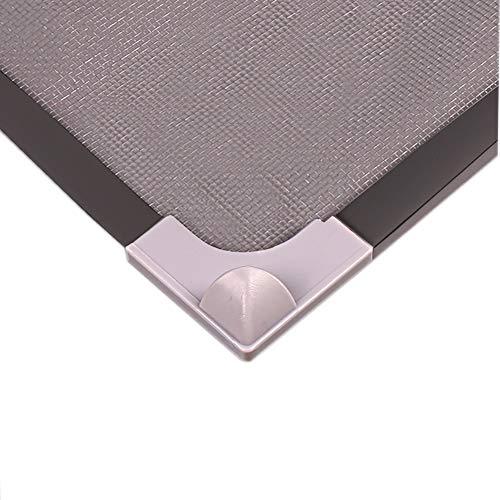 Rete autoadesiva zanzariera per finestra nera con telaio magnetico in pvc invisibile tenda zanzariera con magneti rete, 50x90cm(20x35inch)
