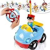 SuMile Ferngesteuertes Auto Rc Auto Kinder Kabelloses Radio Verngesteuertes Auto mit Musik und Sound für Kleinkinder und Kinder, blau