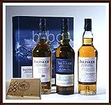 Talisker Whisky 3 x 200ml im Original Karton & 45 DreiMeister Edel Schokoladen, kostenloser Versand