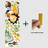 EUGU Enfants Jungle Animaux Stickers Muraux Girafe Singe Lion Zoo Stickers Muraux Pour Bébé Tout Petits Garçons Et Filles Chambres 30X90cm