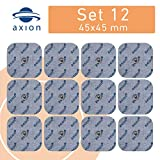 12 Elettrodi Pads 45x45mm per dispositivi BEURER o SANITAS - TENS EMS - axion
