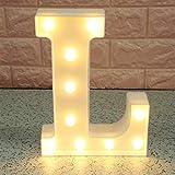 Broadroot 3D Englisch Buchstaben Form LED Nachtlicht Wandbehang Festzelt Zeichen Alphabet Licht Schlafzimmer Hochzeit Party Leuchte Deko Lampe (L)