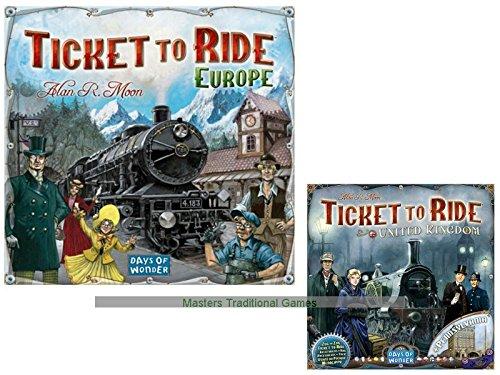 Ticket to Ride Bundle - European Base Game with UK Expansion