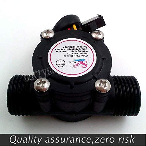 sor - Wasser Kraftstoff Durchflussmesser Sensor Zähler Halle Durchflussmesser Pool Schwimmerschalter für Warmwasserbereiter, Kreditkarte Maschine G1 / 2 1-30L / min ()