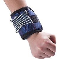Wristband Magnetico - Diealles Polsino Magnetico / Magnetic Wristband per Lo Svolgimento Di Viti, Chiodi, Piccoli Utensili &Di Più(Blu),35x9cm - Pickup Tool Kit