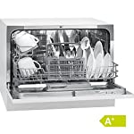 Bomann TSG 708 Tischgeschirrspüler/A+/174 kWh/Jahr/6 MGD/1820 L/Jahr/Elektronische Programmsteuerung/6 Maßgedecke/weiß