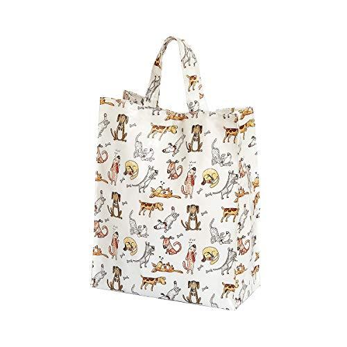 SPOTTED DOG GIFT COMPANY Bolsa de la Compra, Reutilizables con Divertido Diseño de Perros, 40 cm x 32 cm x 13 cm, Regalo para Las Mujeres y los Amantes de los Perros