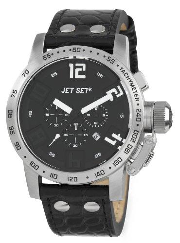 Jet Set J27581-217San Remo–Watch Men–Quartz–Chronograph–Black Dial–Black Leather Strap