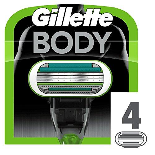 Gillette Body Ricarica di Lame per Rasoio da Uomo, 4 Pezzi