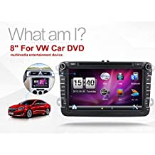 Pantalla táctil de coche para VW Volkswagen de KC Navigation, libre, cámara y Canbus + 8, estruendo de 2Din, reproductor de DVD estéreo, navegación