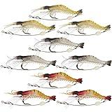 Kakiyi Weiche-Köder-Garnele-Köder-Set Kit Lots, Beste Wahl für Angelköder Köder-Gerät Set für Forellen Bass Salmon (zufällige Farbe)