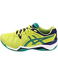 Asics Scarpe Gel-Resolution 6 Clay, Lime/Pine/Indigo Blue (EU 44 UK 9 USA 10)