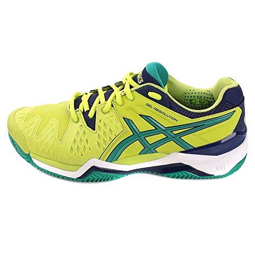 Asics - Gel-resolution 6 Clay, Scarpe da tennis Uomo lime-pine-