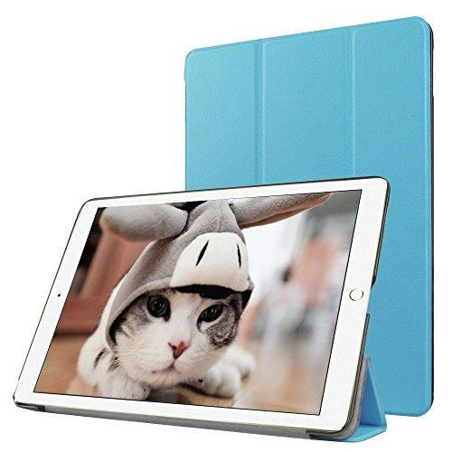Preisvergleich Produktbild Apple iPad Pro 9.7 Fallabdeckung , TechCode iPad Pro Design Schein-Glitter-Leder-intelligente Kasten-Abdeckung mit Standplatz -Abdeckung PU-Leder-Kasten mit Standplatz -Abdeckung Executive-Multi-Funktions-Leder-Standby-Gehäuse mit eingebauter Magnet für Sleep & Awake Funktion für Apple iPad Pro 9.7(iPad Pro 9.7, Blau)