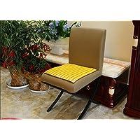home-lb 100% handmade mahjiong carbonizzati Natura Bamboo Quadrato estate cool cuscino sedia per ufficio/auto/divano/Ristorante/ecc. Tappetino di raffreddamento per Laptop, 45 x 45 cm