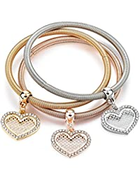 Hot And Bold Multi Layer Gold Plated Dangling Charms Bracelet/Bangles For Women & Girls. Daily Wear Fashion Jewellery.