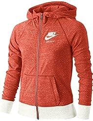 Nike G Nsw Vntg Hoodie Fz Sudadera, Niñas, Naranja (Max Orange / Sail / Sail), S