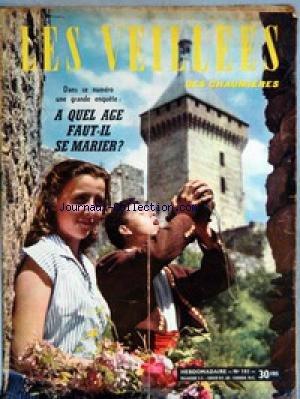 VEILLEES (LES) [No 101] - LECTURES ROMANESQUES - TRICOTS- OUVRAGES - ENQUETES - CUISINE LA MAIN GAUCHE DU SEIGNEUR - FILM AVEC HUMPHREY BOGART.