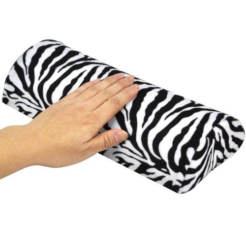 TRIXES Maniküre- und Pedikürekissen mit Zebramuster für Nagelstudios
