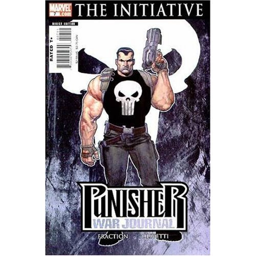 Punisher War Journal #7 Captain America Costume Cover (Civil War The Initiative)