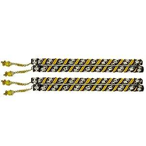 "Emazing Deals Dandiya Sticks 14"" set of 2 pairs (4 Sticks) for Navratri Celebrations Wooden Decorative Dandia Stick for Garba"