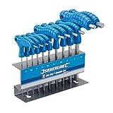 Serie set kit 10 chiavi chiavini a T esagonali a brugola con impugnatura mm 2-10