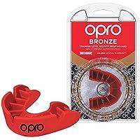 OPRO Protector bucal de Rugby Self-Fit Bronze - Protector bucal - Para baloncesto, hockey, artes marciales mixtas, lacrosse, fútbol americano, baloncesto y más - Fabricado en Reino Unido (Azul., Junior)