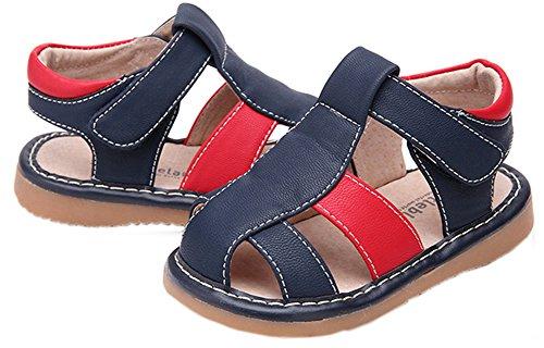 Toddler/Little enfants garçons Close Toe décontracté extérieur Sandale Bleu foncé et rouge