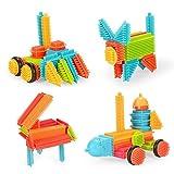 NextX Bristle Blocks Noppenbausteine Konstruktionsspielzeug ab 2 Jahre Pädagogische Bausteine Für Junge und Mädchen(50pcs) Weihnachtsgeschenk