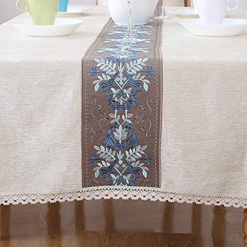 ZUOANCHEN Accueil Nappe Pastorale Européenne Lin Imitation Broderie Nappe Tissu Rectangulaire Coton Lin Table Basse Nappe (Couleur : Orange, taille : 130 * 190cm)