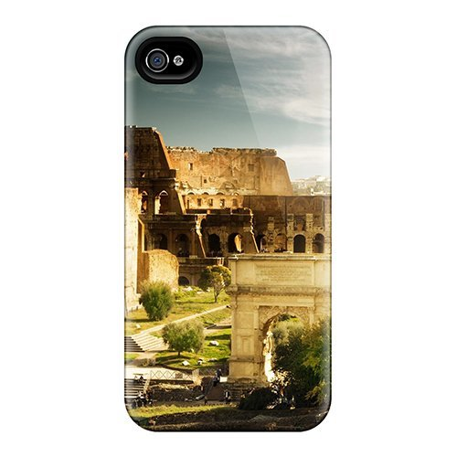 New Rome Colosseum Tpu Cover Case For Iphone 4/4s