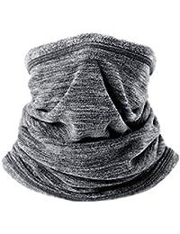 Jiele Mens Neck Warmer Scarf Multifunctional Polar Fleece Neck Warmer Snood Scarf Hat Winter Outdoors Work Sports,Hiking, Motorbikes,Cycling, Ski Wear Mask Warm Neck Tube