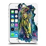 Offizielle Riza Peker Pferd Tiere Soft Gel Hülle für Apple iPhone 5 / 5s / SE