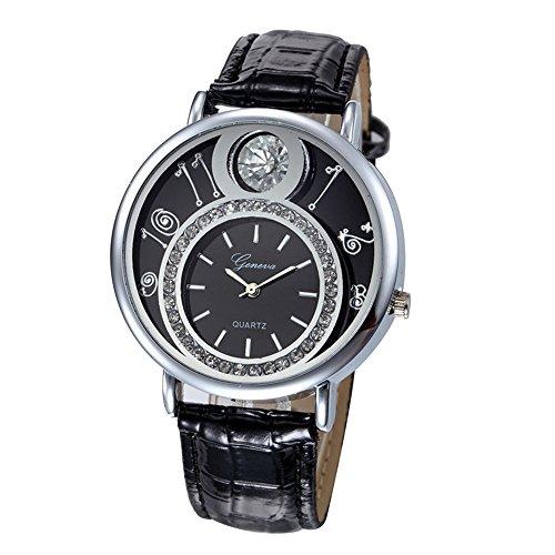 Swallowuk Damen-Diamant-Uhr, Herren Outdoor-Sport-Quarzuhr (schwarz)