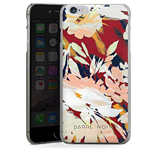 Apple iPhone X Silikon Hülle Case Schutzhülle Blumen Muster Blume Hard Case anthrazit-klar