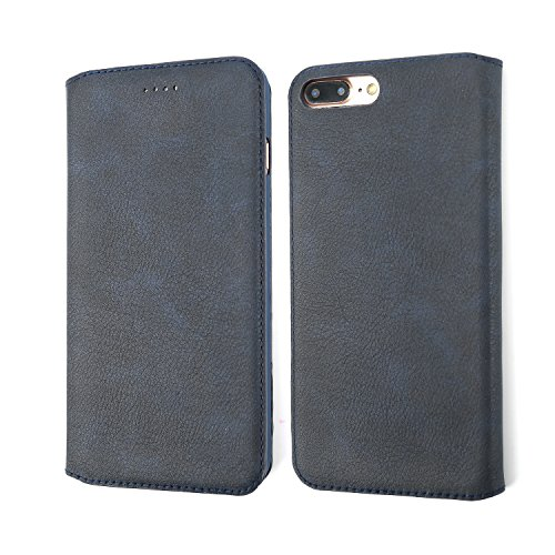 Custodia iPhone 4S, Custodia iPhone 4, Coodio Premium Custodia in Pelle, Custodia Portafoglio iPhone 4S, Folio Cover con Porta Carte, Custodia Pelle Per iPhone 4S, iPhone 4,Rosso Blu