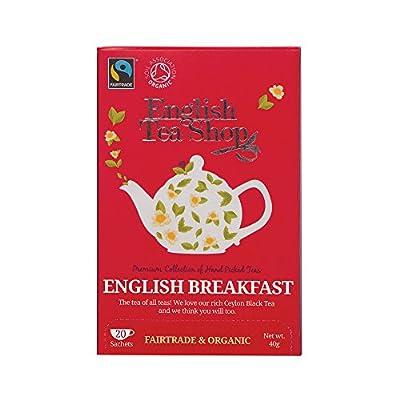 English Tea Shop Thé Noir English Breakfast Bio 20 Sachets 40 g