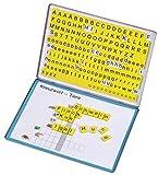 Betzold 86570 - Lese-Magnetbox mit 213 Buchstaben-Blöcken - Lesen Lernen Lesebox Deutsch-Unterricht Kinder 1. Klasse Grundschule