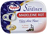 Appel Sardinenfilets Madeleine rot, 10er Pack Konserven, Fisch in Olivenöl