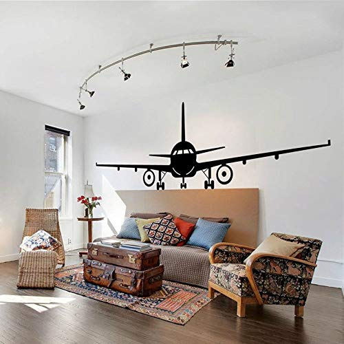 Preisvergleich Produktbild WWYJN Airplane Wall Decal Jumbo Jet Vinyl Wall Sticker Home Living Room Decor Large Airplane Wallpaper Removable Wall Murals red 110x42cm