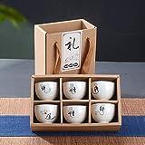 HAOYONGDE Handgemalte Keramik Tasse Set China Tee-Set Kung Fu Tee Tasse Set Reise Teeschale Chinesisches Porzellan Teetasse Set Geschenke